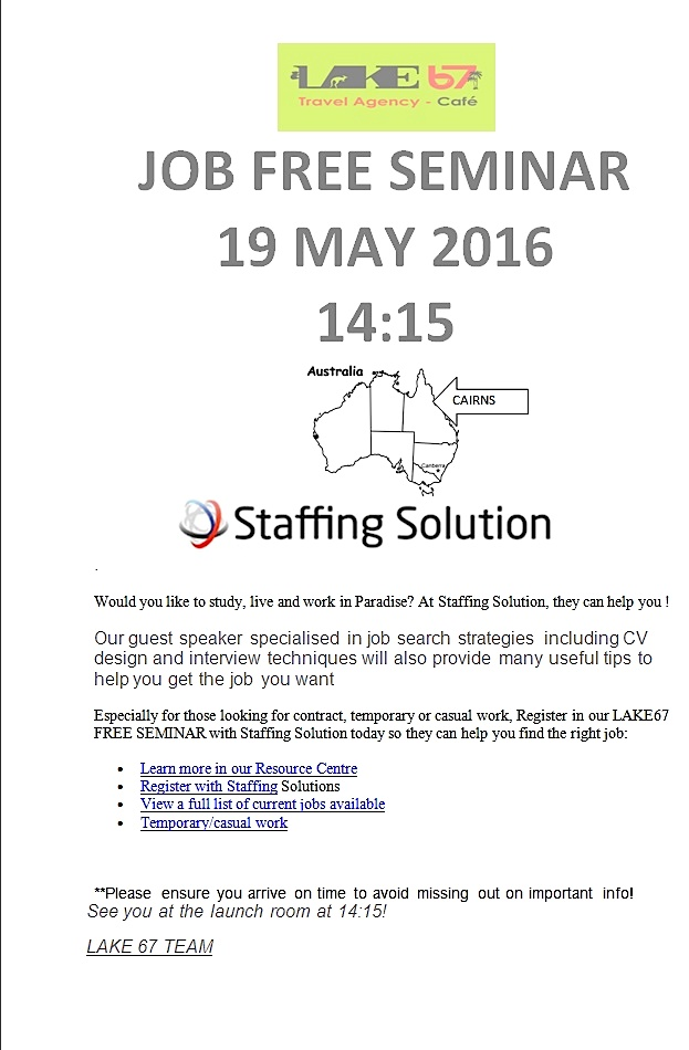 Job free seminar