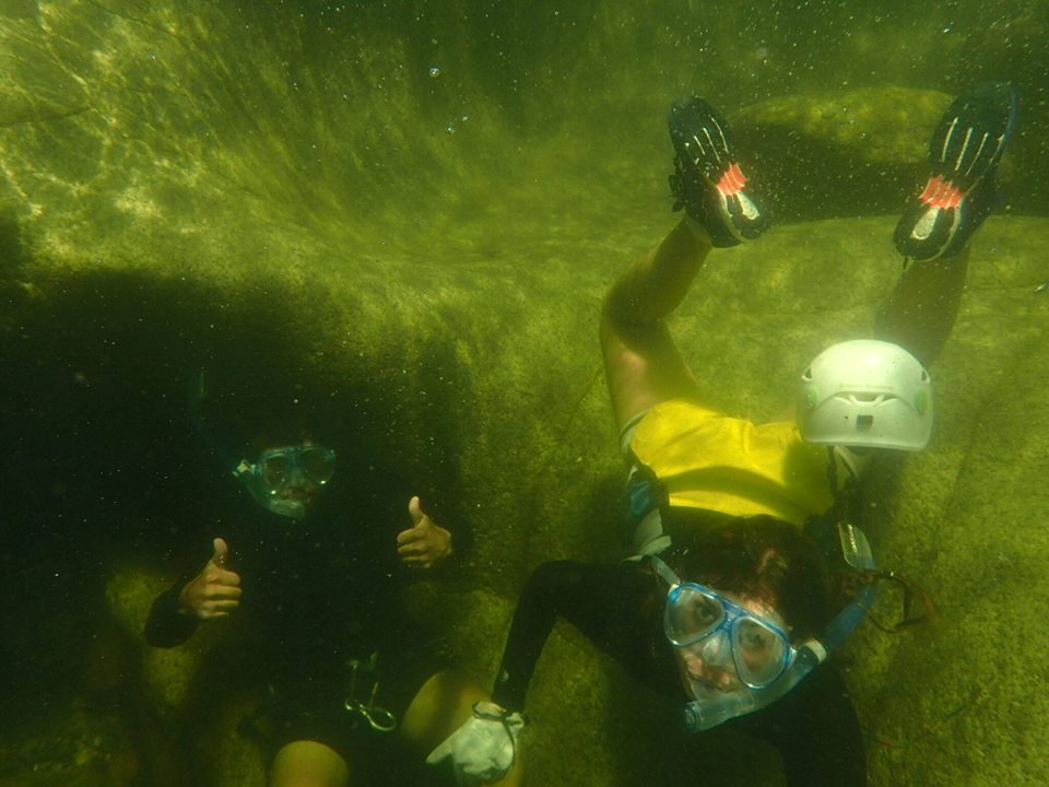 Snorkeling and free dive in boulders